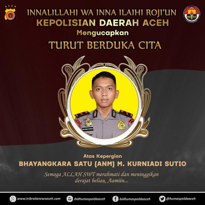 Bharada Muhammad Kurniadi yang gugur di Kiwirok Papua