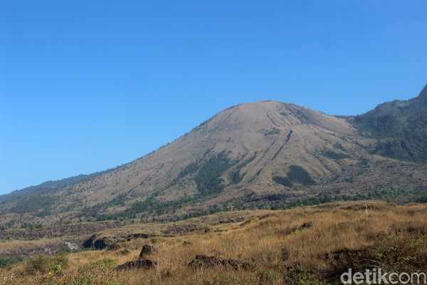 Panorama Gunung Guntur sangat indah untuk dilihat, terutama saat pagi hari. (Hakim Ghani/detikcom)