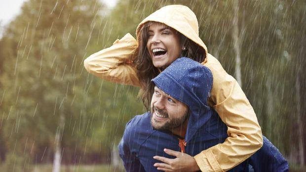 Ilustrasi liburan di musim hujan