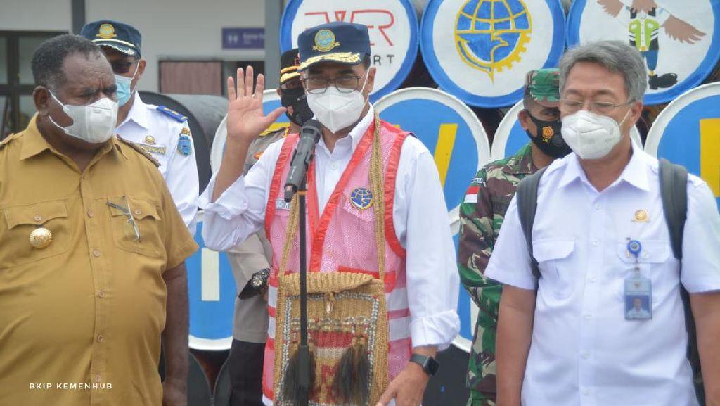 Menhub: Kita Tingkatkan Infrastruktur Transportasi di Kabupaten Asmat