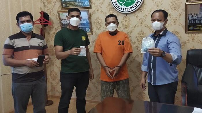 Residivis di Sumut Ditangkap Jadi Kurir Narkoba (Ahmad Fauzi Manik-detikcom)
