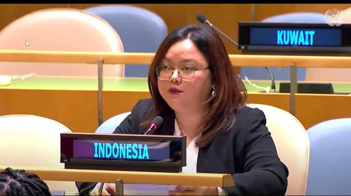 Sekretaris Ketiga Perwakilan Tetap RI New York, Sindy Nur Fitry (Dok. Kemenlu)