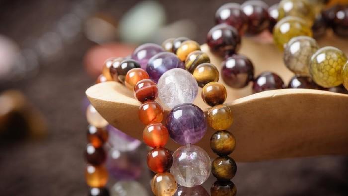 natural stone beads stretch bracelet, semi-precious stone bracelet