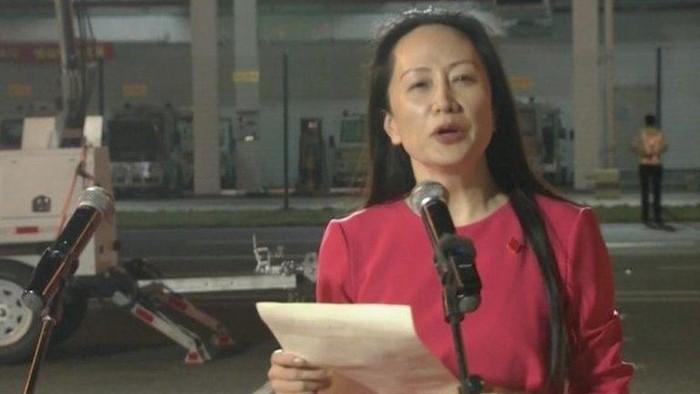 Bos Huawei Meng Wanzhou yang dibebaskan Kanada tiba di China, Akhirnya saya pulang!