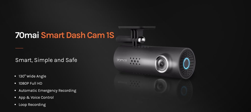 Dashcam 70mai Smart Dash Cam 1S