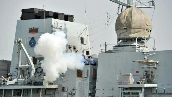 HMS Richmond is a frigate deployed with Britains aircraft carrier strike group (AFP/GLYN KIRK)