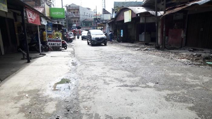 Kondisi Jalan Harmonika Medan setelah diperbaiki (Datuk-detikcom)