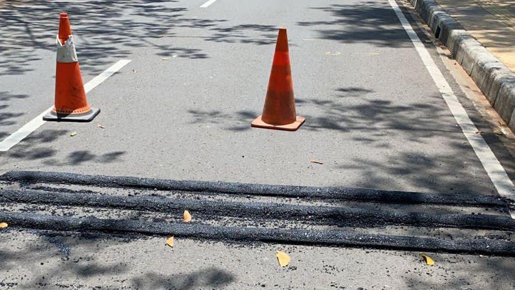 Before-After Polisi Tidur di Pulomas yang Viral Diprotes Pesepeda