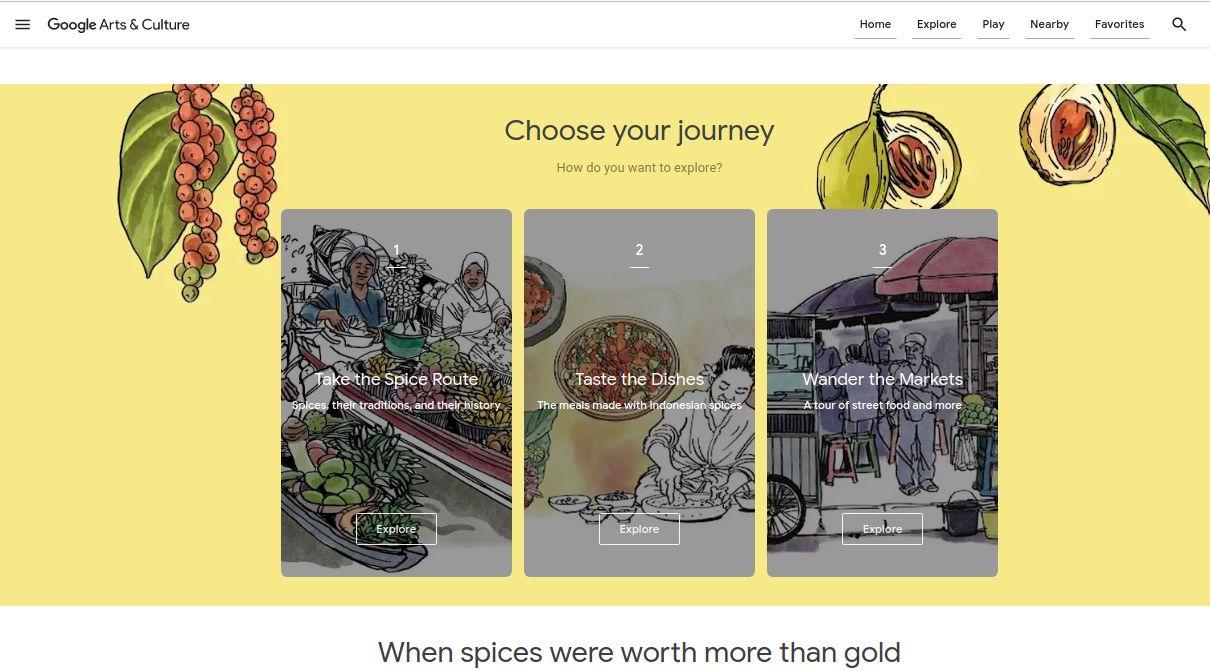Promosi Rempah Indonesia Lewat 'Spice Up the World' di Google Arts & Culture