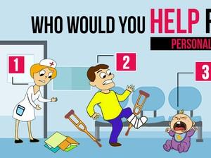 Kuis: Siapa Orang Pertama yang Kamu Tolong? Pilihanmu Ungkap Sifat Aslimu