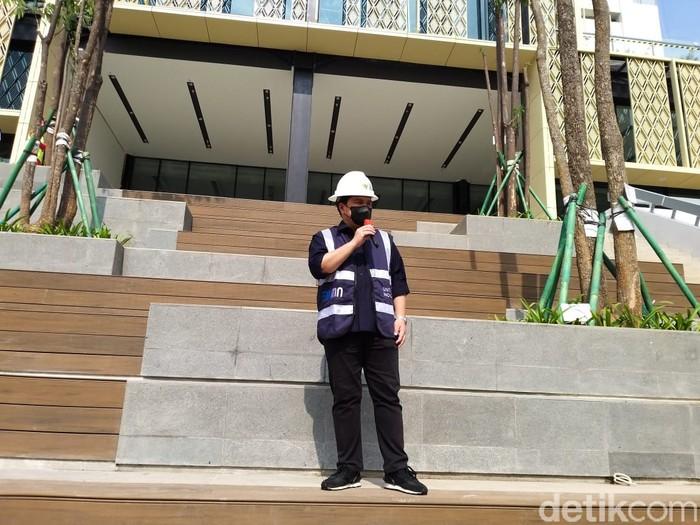 Erick Thohir Tinjau Renovasi Gedung Sarinah