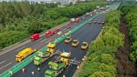 Canggih! Di China Kendaraan Berat untuk Perbaiki Jalan Bekerja Tak Pakai Sopir Lagi