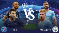 Prediksi Susunan Pemain PSG vs Manchester City: Messi Starter?