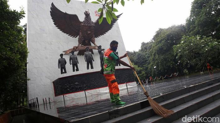 Peringatan Hari Kesaktian Pancasila akan digelar di Lubang Buaya, Jakarta Timur, 1 Oktober mendatang. Begini suasana di kawasan Monumen Pancasila Sakti.