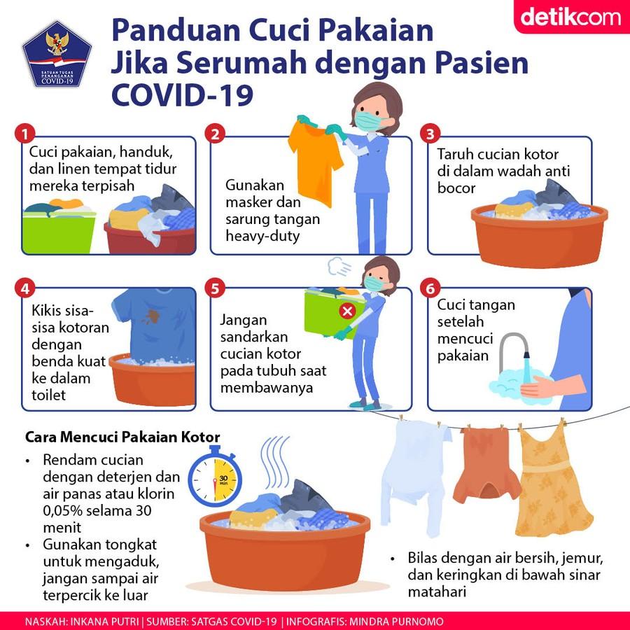 6 Langkah Cuci Pakaian Jika Serumah dengan Pasien COVID-19