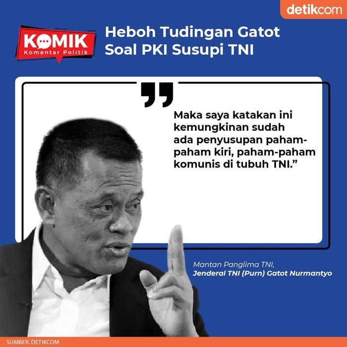Heboh Tudingan Gatot Soal PKI Susupi TNI (Tim Infografis detikcom)