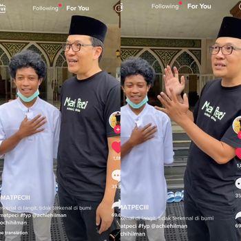 Kisah anak pemilik masjid viral di media sosial.