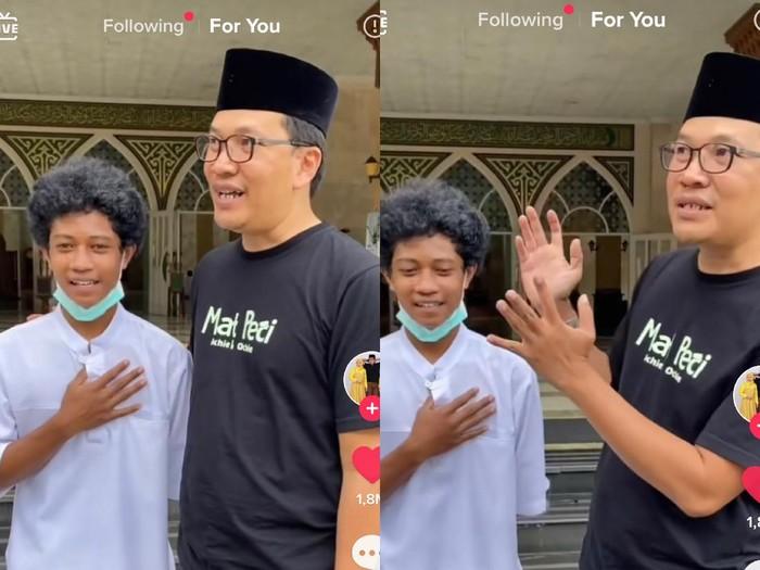 Foto Raja dan Mat Peci. Foto: Dok. Tangkap layar akun TikTok @matpeciii.