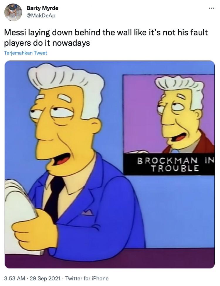 Meme Lionel Messi vs Man City