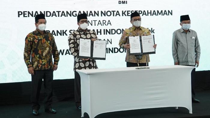 PT Bank Syariah Indonesia Tbk (BSI) dan Dewan Masjid Indonesia (DMI) bersinergi mengoptimalkan peran masjid untuk penguatan ekonomi masyarakat.