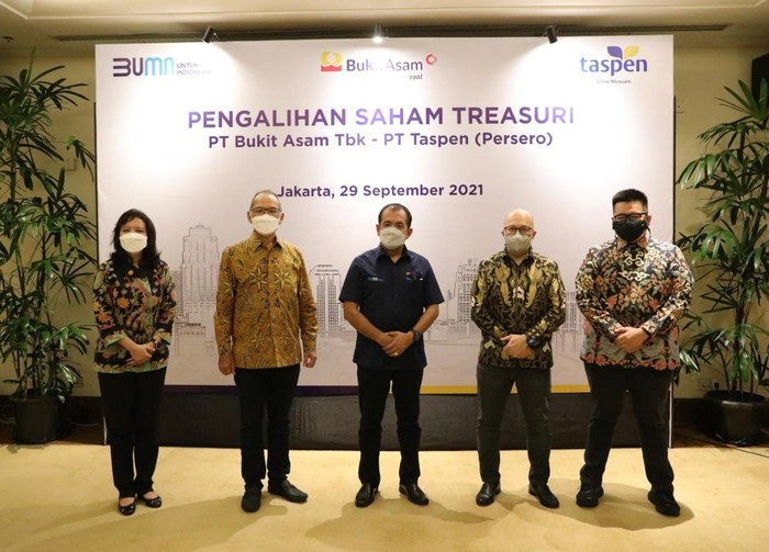 TASPEN Borong 262,5 Juta Lembar Saham PTBA Senilai Rp 600 M