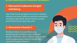 Pada dasarnya tidak ada pantangan khusus setelah vaksin COVID-19. Namun ada beberapa hal yang sebaiknya dihindari untuk mengurangi efek samping.