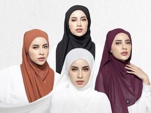 5 Tutorial Hijab Pashmina dan Segi Empat Instan Bikin Pipi Tirus