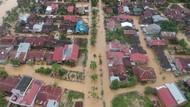 Penampakan dari Udara Banjir yang Merendam Padang Pariaman