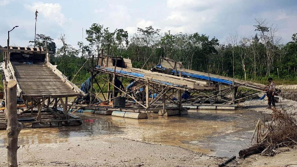 Potret Pemberantasan Tambang Emas Ilegal di Riau