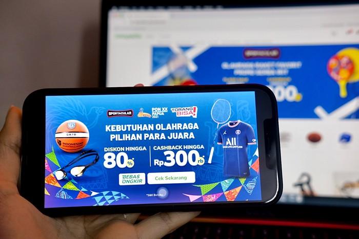 Jadi Mitra Resmi PON XX Papua, Tokopedia Beri Promo Produk Olahraga