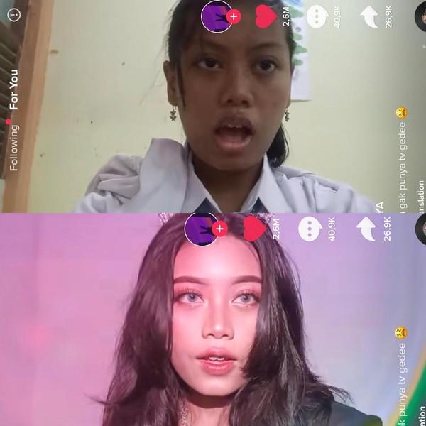 Foto Transformasi Makeup Remaja Bojonegoro, Viral Dikira Cupu Ternyata Suhu