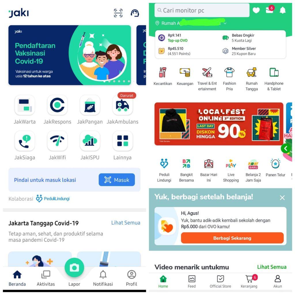 Fitur PeduliLindungi mulai terintegrasi di aplikasi Gojek, Tokopedia, dan Jaki.