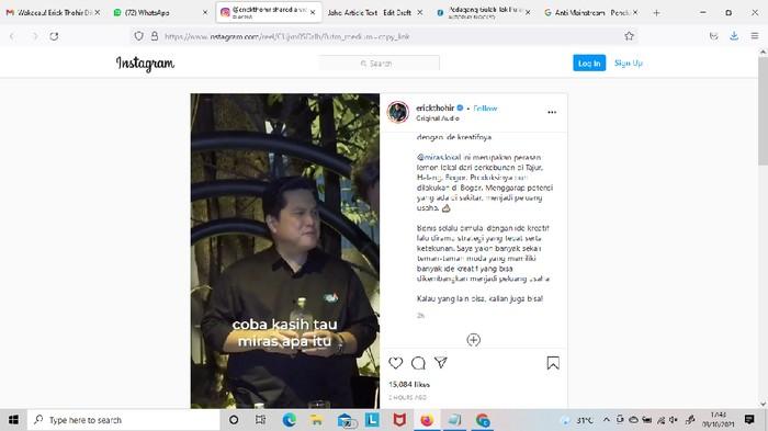 Kala Erick Ditawari Miras