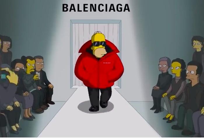 The Simpsons eksis di fashion show Balenciaga. (Foto: YouTube/Balenciaga)