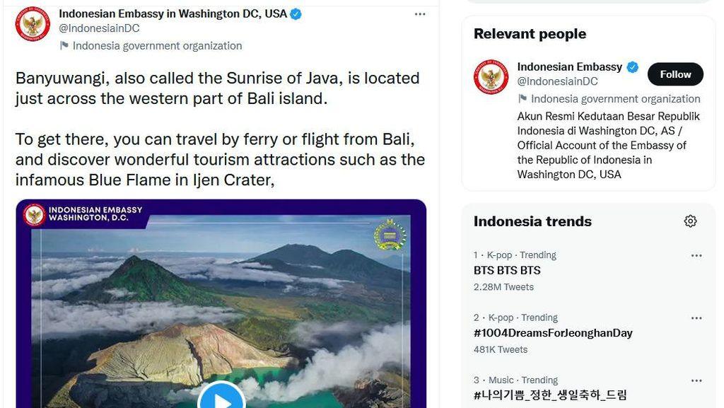 Kedutaan RI di Berbagai Negara Ramai-Ramai Promosikan Banyuwangi
