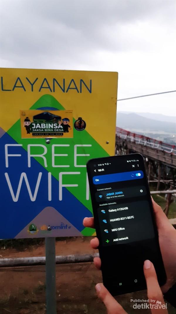 Layanan wifi di kawasan wisata