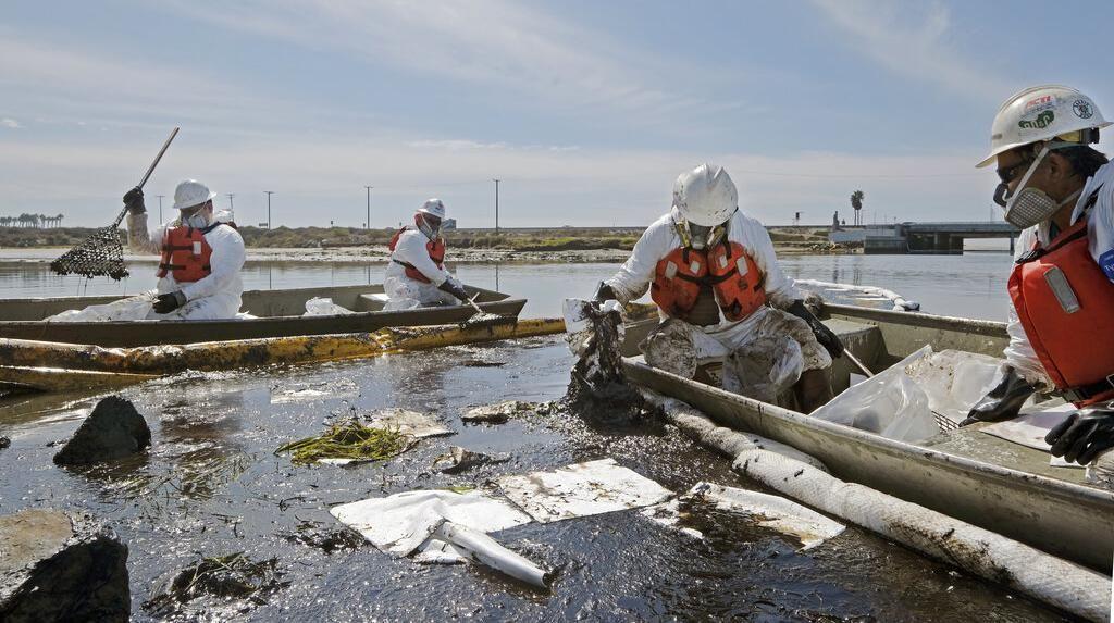 1.500 Petugas Dikerahkan Bersihkan Pantai California dari Minyak