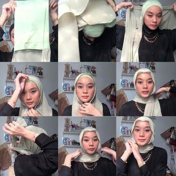 Tutotial hijab pashmina instan.