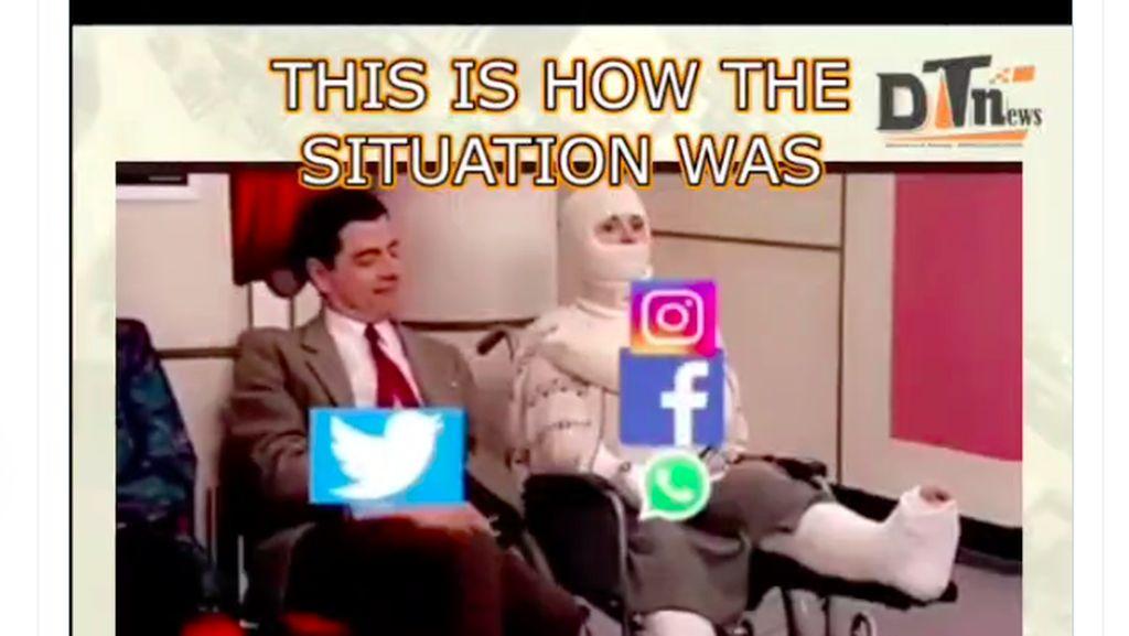 Meme Lucu WhatsApp dan Instagram Tumbang Lama Banget