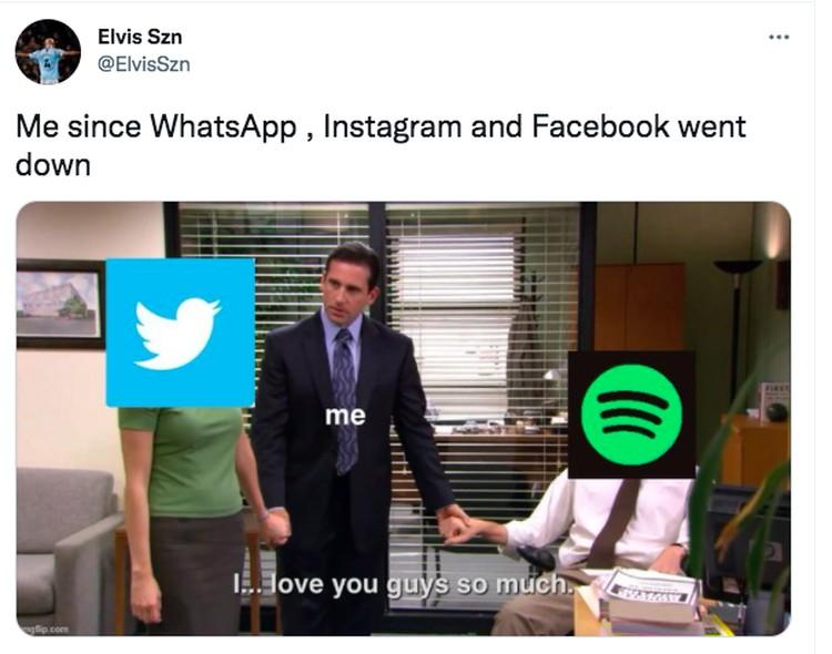 Meme Instagram WA down