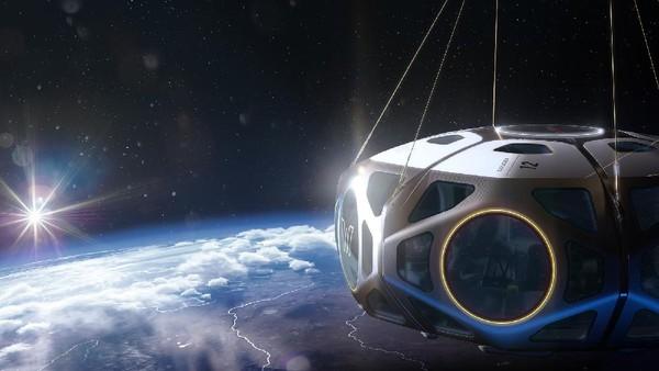 Wisatawan akan naik balon stratosfer bertekanan nol dan kapsul ruang angkasa bertekanan hingga 100 ribu kaki(World View)