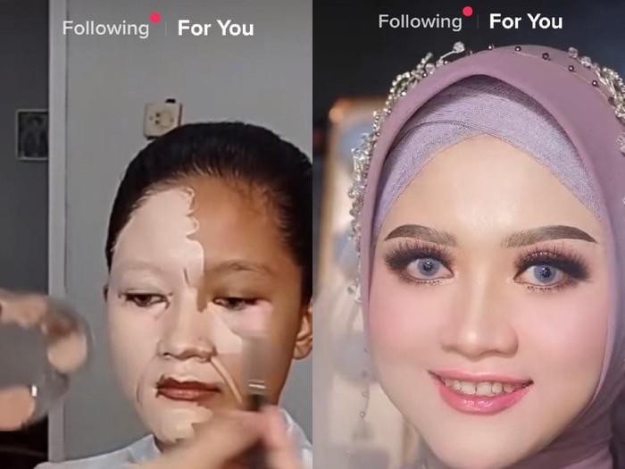Viral makeup pengantin wanita yang flawless.