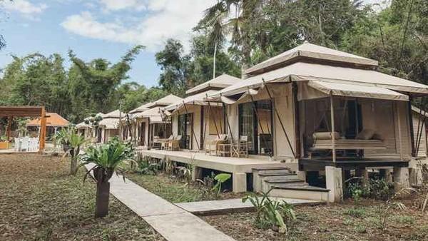 Jawa Jiwa G-Land berlokasi di Banyuwangi, Jawa Timur. Penginapan yang berdekatan dengan Pantai Plekung ini menawarkan harga Rp 146.250 dari Rp 450.000.(Jawa Jiwa G-Land/Traveloka)