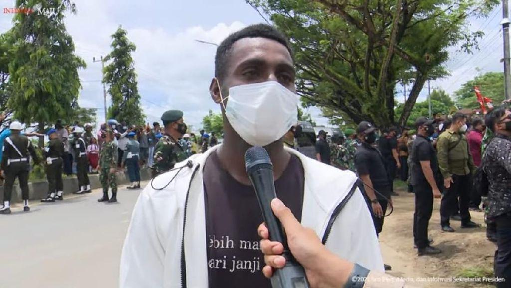Bahagianya Hermanus, Pemuda Sorong yang Dapat Jaket dari Jokowi