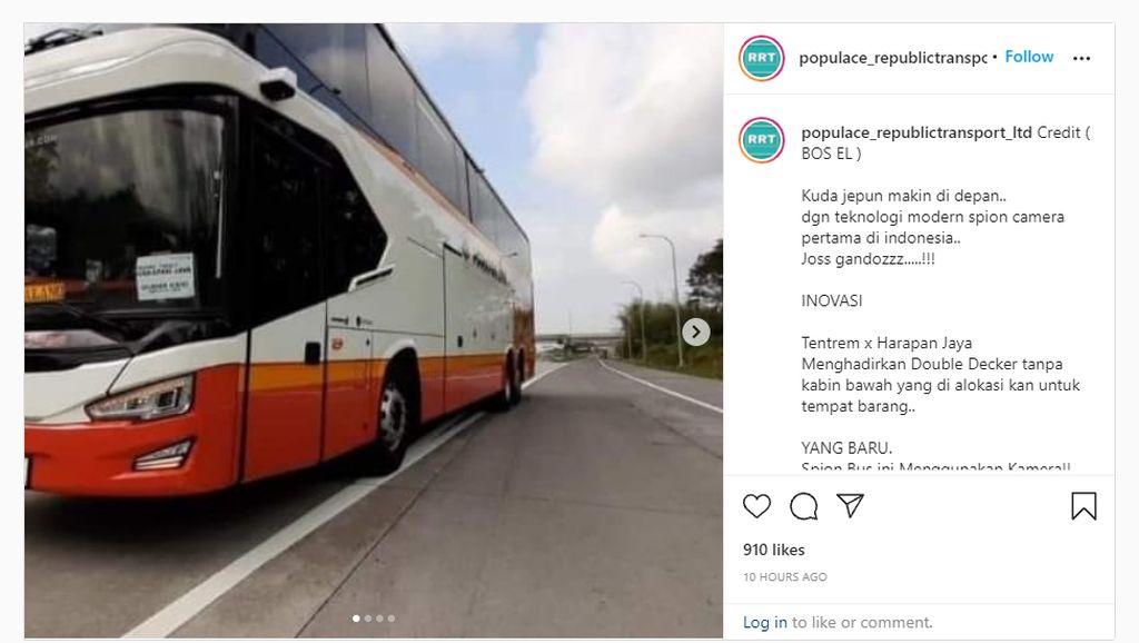 Bus UHD Tentrem Pakai Kaca Spion Kamera, Apakah Sudah Ada Regulasinya?