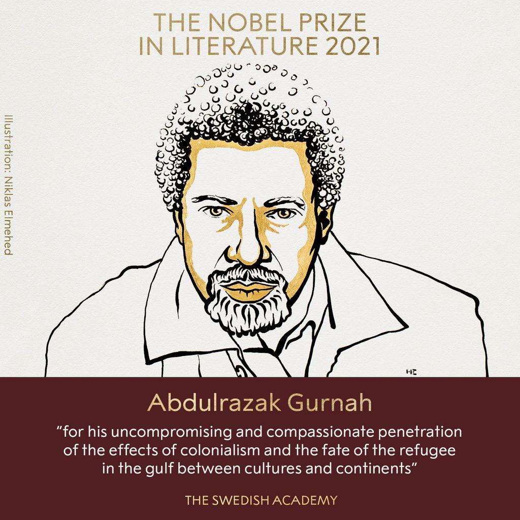 Abdulrazak Gurnah memenangkan Nobel Sastra 2021