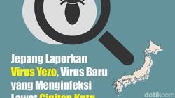 Ilmuwan Jepang melaporkan virus baru, virus Yezo, yang menular lewat gigitan kutu. Gejalanya antara lain demam dan penurunan trombosit dalam darah.