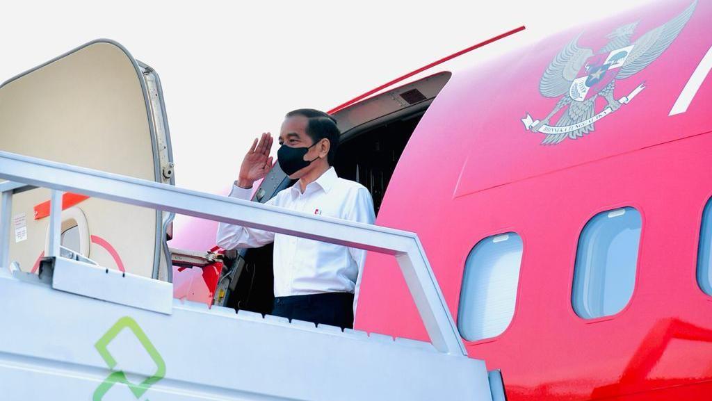 Bertolak ke Jabar, Jokowi Akan Pimpin Upacara Penetapan Komcad di Batujajar