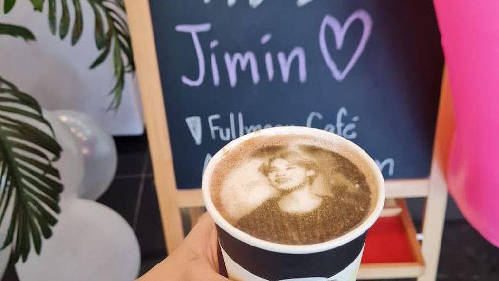 Jelang Ultah Jimin BTS, Kafe Ini Tawarkan Latte Wajah Jimin