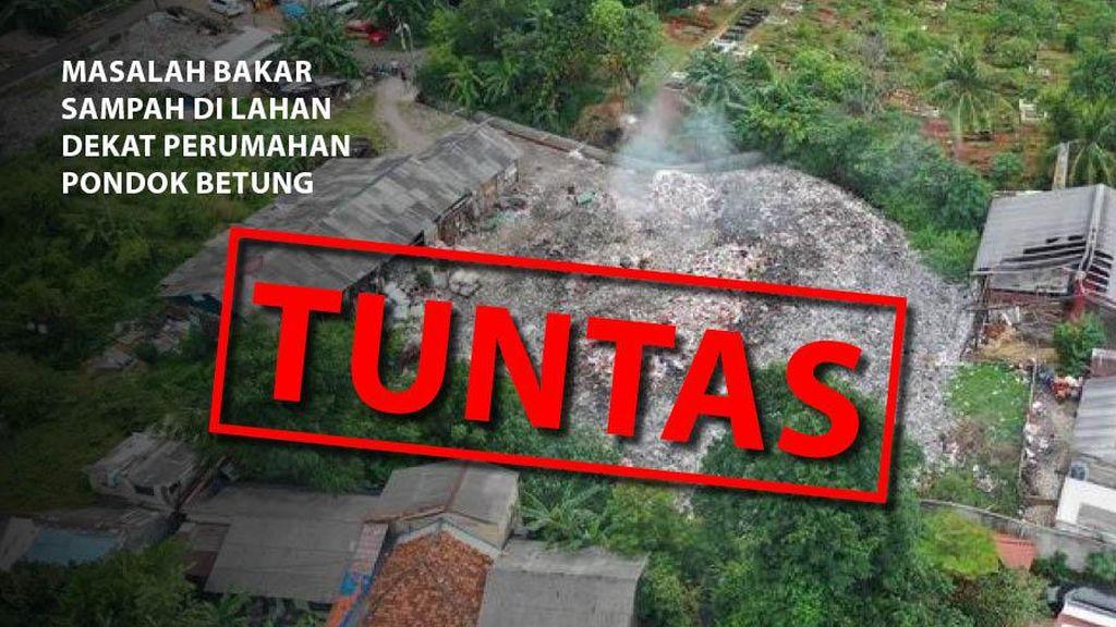 Before-After Penanganan Masalah Bakar Sampah di Lahan Pondok Betung